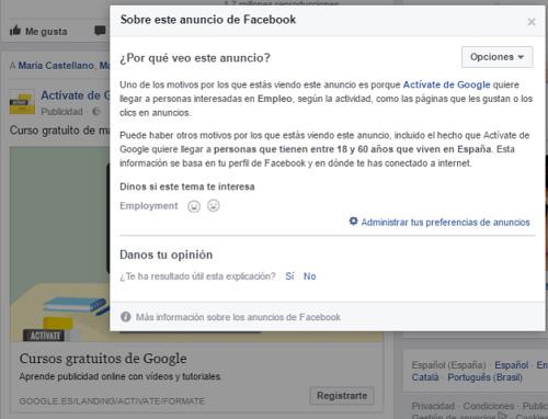 anuncio facebook google