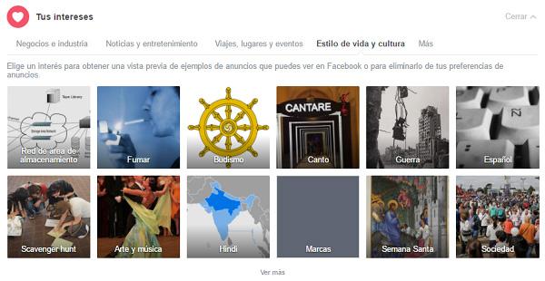 intereses publicidad facebook