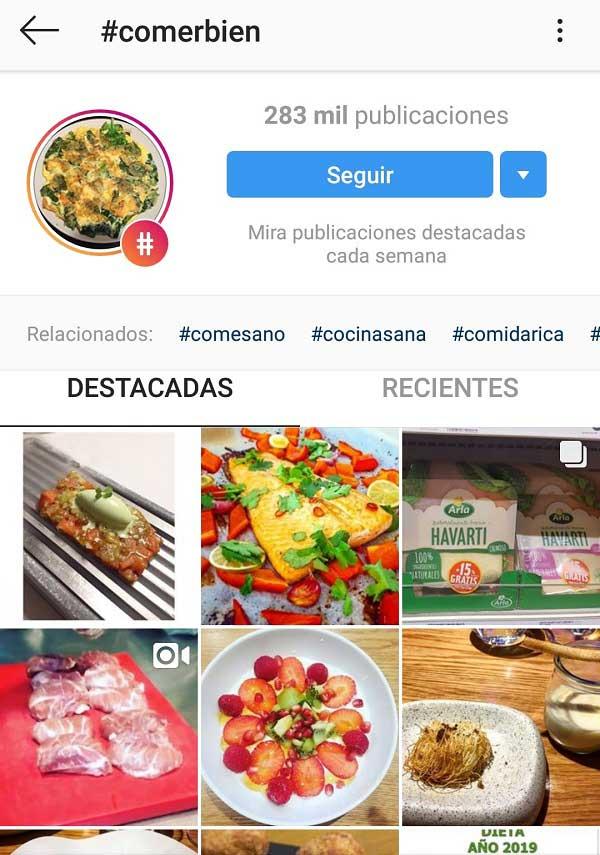 uso hashtags instagram