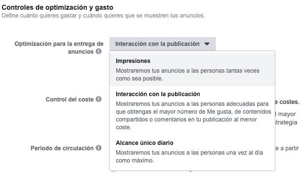 campaña interaccion facebook
